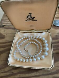 Vintage Ciro pearls With 9ct Clasp