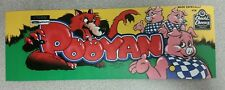 Pooyan arcade marquee sticker. 3.25 x 10. (Buy 3 stickers, GET ONE FREE!)