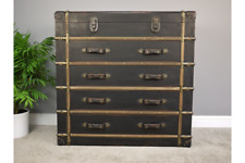 Vintage Antique Storage Trunk Chest Of Drawers Suitcase Drawer Cabinet W102cm
