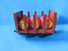 Lehmann-Gross-Bahn Short Stake Flat Car w/3 Shell Barrels; #4045
