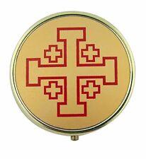 Jerusalem Cross Pyx (61941) 7 Host Home Hospital Traveling Pyx NEW