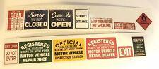 1/24 - 1/25 - G Scale Model Car Diorama - Garage Signs *GLOSSY* Finish