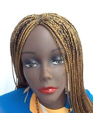 """20"""" Handmade Gold Blend Braided Wig. Made with Premium Synthetic Hair."""