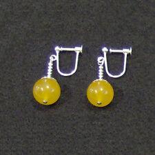 Clip On - Yellow Jade Potara Fusion Earrings Dragon Ball Z DragonballZ Earings