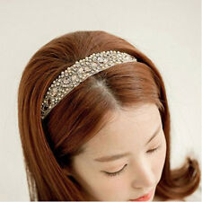 Stylish Women Ladies Sparkling Crystal Rhinestone Elastic Hairband Headband New