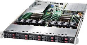 1U 10 Bay SFF Server X10DRU-i+ 2x Xeon E5-2690 V4 28 Core 128GB Ram 4x 10GBE-T