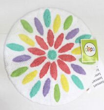 Circo Multicolor Flower Cotton Pile Bath Rug Round 24 in
