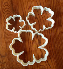 Set of THREE Hibiscus cookie and fondant cutters  - 3, 4, 5, inch - US SELLER!!