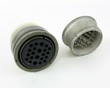 AMP - Connector Mated Pair 22 Solder Contacts-Size 28 Shell Hermetic Receptacle