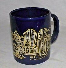 Minnesota St. Paul Cityscape Coffee Mug Skyline Blue Gold 1991 DS Art Souvenir