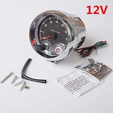 "Durable 3.75"" 7Colors LED Car Tachometer Gauge Adjustable 0-8000 RPM Shift-Light"