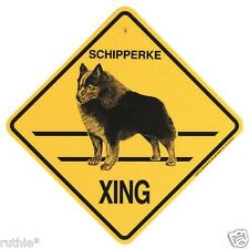 Schipperke Dog Crossing Xing Sign New