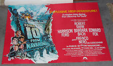 FORCE 10 FROM NAVARONE orig quad poster BARBARA BACH/HARRISON FORD/FRANCO NERO