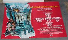 FORCE 10 FROM NAVARONE orig quad poster BARBARA BACH/HARRISON FORD/FRANCO NERO
