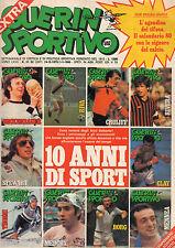 GUERIN SPORTIVO=N°51/52 (267) 1979=10 ANNI DI SPORT 1970-1979=10 ANNI DI POP