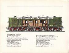 VINTAGE RAILWAY GERMAN TRAIN ENGINES PRINT ~ GOODS ENGINE STAATSEISENBAHNEN