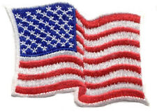 Flag - American - Waving - Patriotic Embroidered Iron On Patch