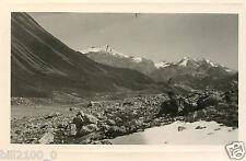 PHOTO ANCIENNE .  Tignes . Savoie . Gde Sassière .Tsanteleina. col du Palet.