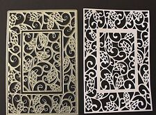 Decorative Rectangle Multi Use Set of 2 Metal Cutting Dies New Cardmaking
