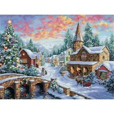 Dimensions Counted X Stitch -gold, Holiday Village - Cross Kit D08783 Christmas