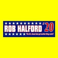 """Rob Halford '20"" President Bumper Sticker heavy metal Judas Priest Anti Trump"