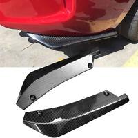 2x Car Carbon Fiber Rear Bumper Lip Diffuser Splitter Canard Protector New Top