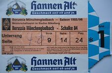 TICKET 1985/86 Bor. Mönchengladbach - FC Schalke 04