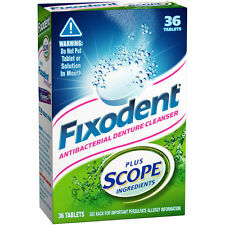Fixodent Antibacterial Denture Cleanser & Cleaner /w SCOPE! 36 Tablet Count