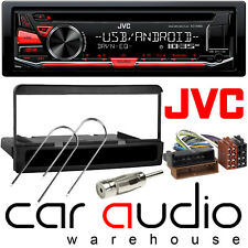 Ford Mondeo 1993-03 JVC Car Stereo CD MP3 Radio USB Aux Player Black Finish Kit