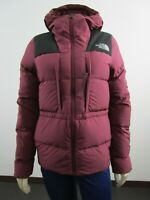 NWT Womens The North Face UX (Nuptse) 550-Down Insulated Hooded Jacket - Red