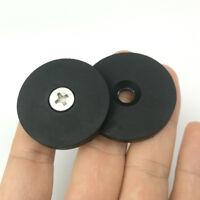 4x 19LB Neodymium Rubber Coated Pot Magnet Set D31*6mm Anti-scratch Aimant Mount