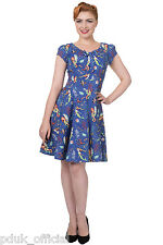 BANNED 1950s Vintage Disney Inspired Seahorse Mermaid Pinup Mini Party Dress Tag Size XL - Uk16
