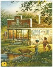 Terry Redlin Summertime Fishing General Store 100pc Bagged Boxless Jigsaw Puzzle
