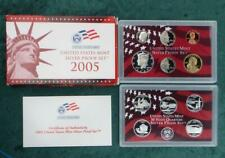 2005 S U.S. Mint Silver Proof Set with Box & COA, 11 Proof Coins, Kennedy Half