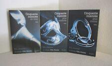 Cinquante nuances de Grey. La trilogie. E.L JAMES. JC Lattès TB5