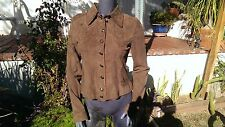 Scully Leather L7 Women's Chocolate Lamb Suede Jacket (M)