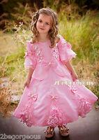 Girl Party Princess Costume Vintage Victorian Fancy Occasion Dress Age 2y-9y 002