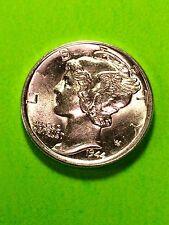 1944-D 10C Mercury Dime GEM FLASH WHITE  SILVER FULL BANDS See DETAILS PLEASE
