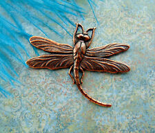 ANTIQUE COPPER Connector Dragonfly Stamping ~ Ornament Jewelry Finding (B-629)