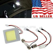 1X White 48 COB LED Light Lamps Interior Dome Map Trunk Lights Bulbs + Adapters