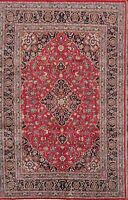 Spectacular Pink Floral Room Size Kashmar Hand Knotted Oriental Area Rug 7x10