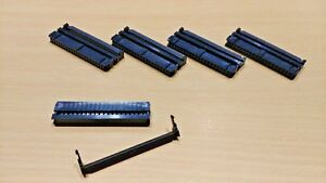5 PACK - 40 Pin Way IDC Socket Plug Ribbon Cable Connector (2.54mm Pitch)