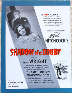 A. HITCHCOCK - ABBOTT & COSTELLO - Shadow of Doubt/Who Done It - Trade Ad - '43