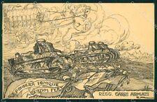 Militari Fascismo Reggimento Carri Armati cartolina XF3709