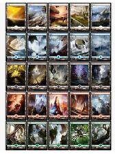 25 CHINESE FULL ART BASIC LANDS - LAND SET BATTLE FOR ZENDIKAR MINT CARD MTG