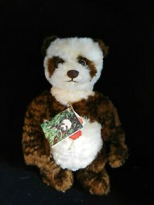 "Vintage 15"" Original Hermann Teddy Dan Dan Limited Mohair Panda Bear ALL ID"