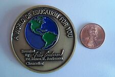 CENTRAL TEXAS COLLEGE WORLD OF EDUCATION JAMES ANDERSON CHANCELLOR'S COIN