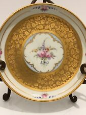 Pickard Floral Hand Painted Handled Bowl Dish Gold Early Mark Signed