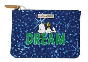 Cath Kidston x Peanuts Snoopy Dream Midnight Stars Pouch Blue Navy Colour