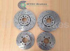Leon Cupra R 225BHP Rear Drilled Grooved Brake Discs /& MTEC Pads